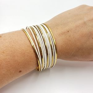 Vtg multi piece bangle bracelet